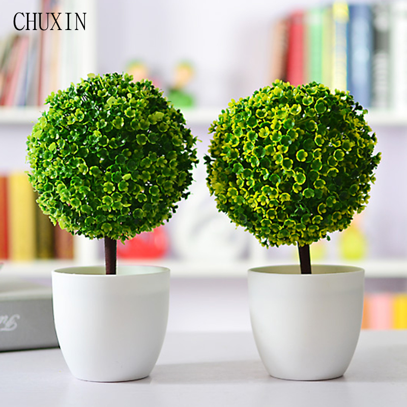 Best Artificial Plants Ball Bonsai Fake Tree Decorative Green This Month