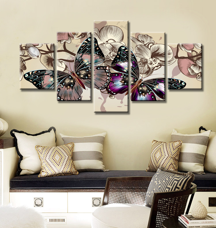 Best Drop Shipping 5Pcs Hd Canvas Print Home Decor Wall Art This Month