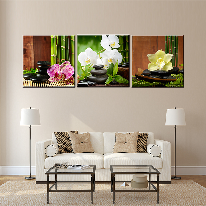 Best Drop Shipping 3 Pieces About Orchid Flowers Landscape Wall This Month