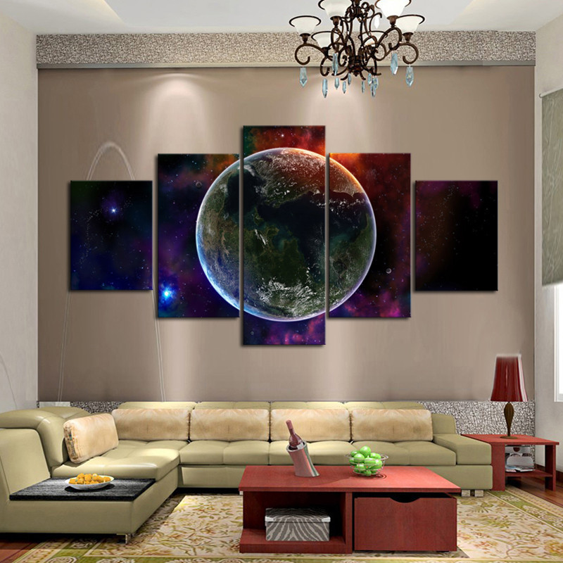 Best Fantasy Universe Wall Art Unique 5 Panels Wall Painting This Month