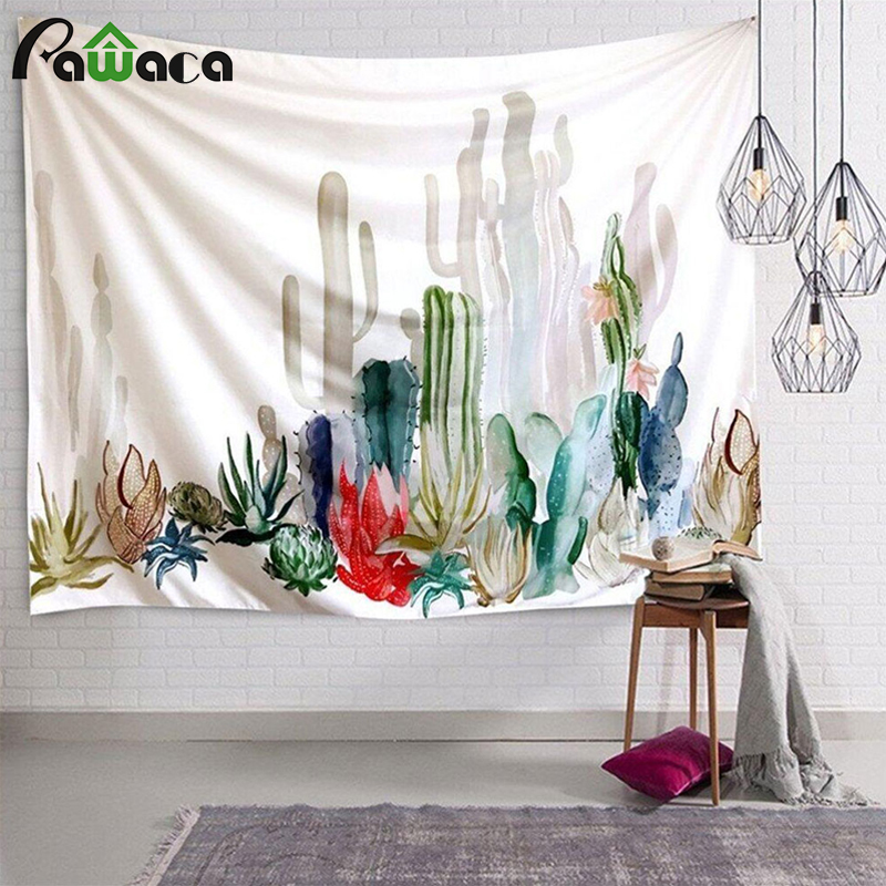 Best Cactus Watercolor Hanging Wall Tapestries Mandala Bohemian Tapestry Landscape Wallpaper Wall Art This Month