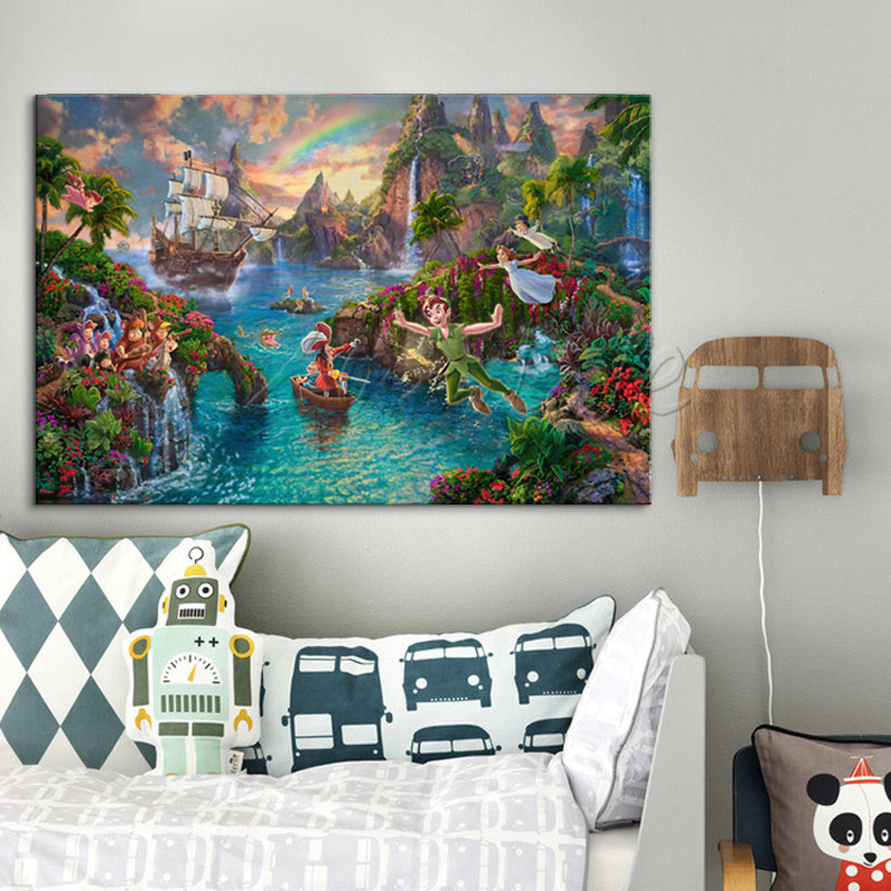 Best Thomas Kinkade Peter Pan Pictures Canvas Print Painting This Month