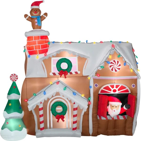 Best Shop Gemmy Airblown Inflatables Animated Gingerbread House This Month