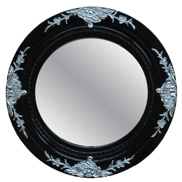 Best Traditional Glossy Black Decorative Round Framed Mirror This Month