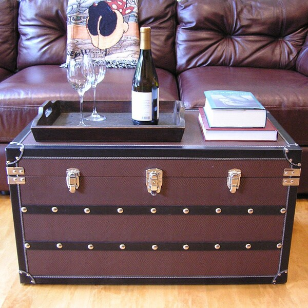 Best Shop Decorative Sterling Large Wood Steamer Trunk Wooden This Month
