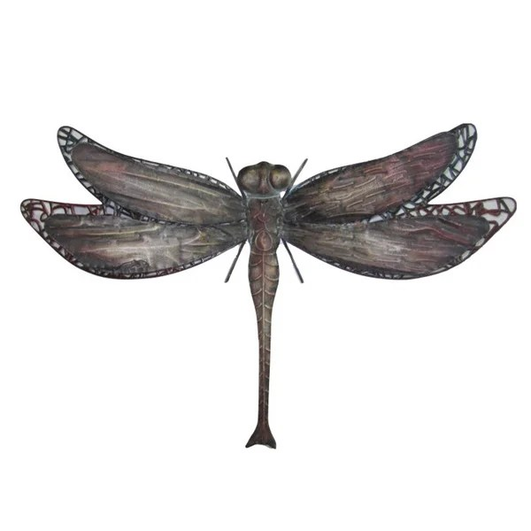 Best Shop 25 Inch Dragonfly Metal Wall Decor Free Shipping Today Overstock 9420089 This Month