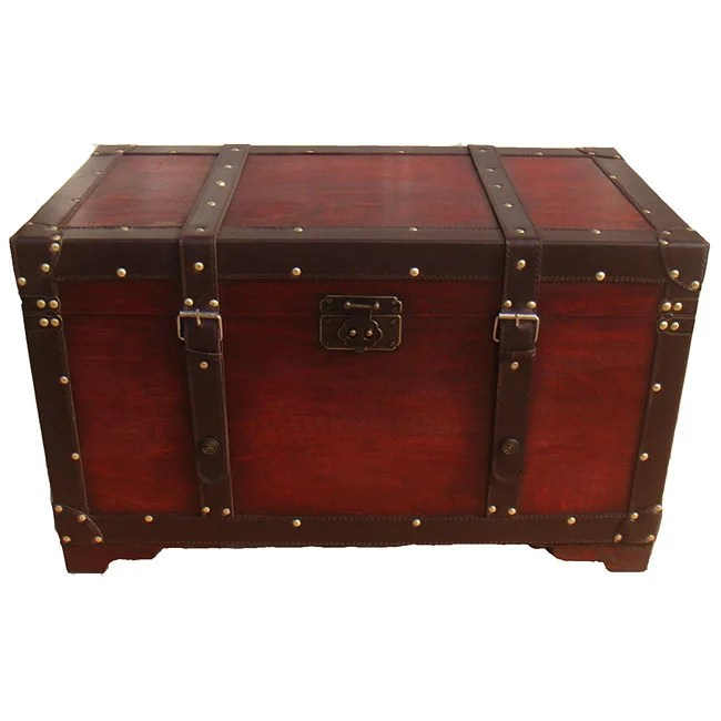Best Phat Tommy Retro Decorative Wooden Storage Trunk Free This Month
