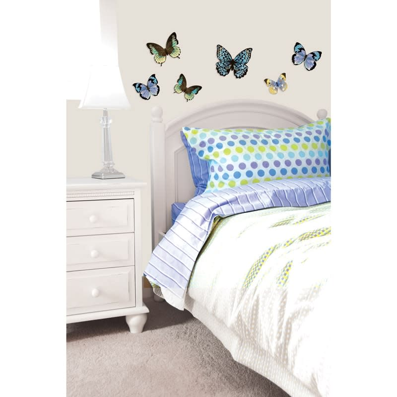 Best 3D Butterfly Wall Sticker Silver Home Accessories B M This Month
