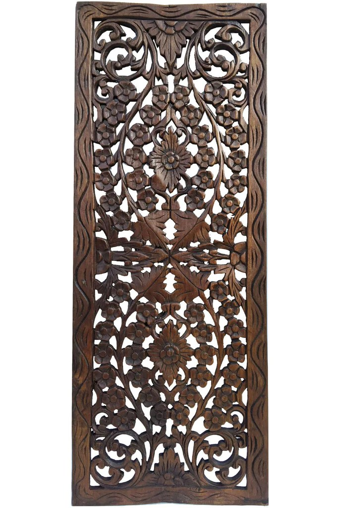 Best Floral Wood Carved Wall Panel Wood Wall Decor For Sale This Month