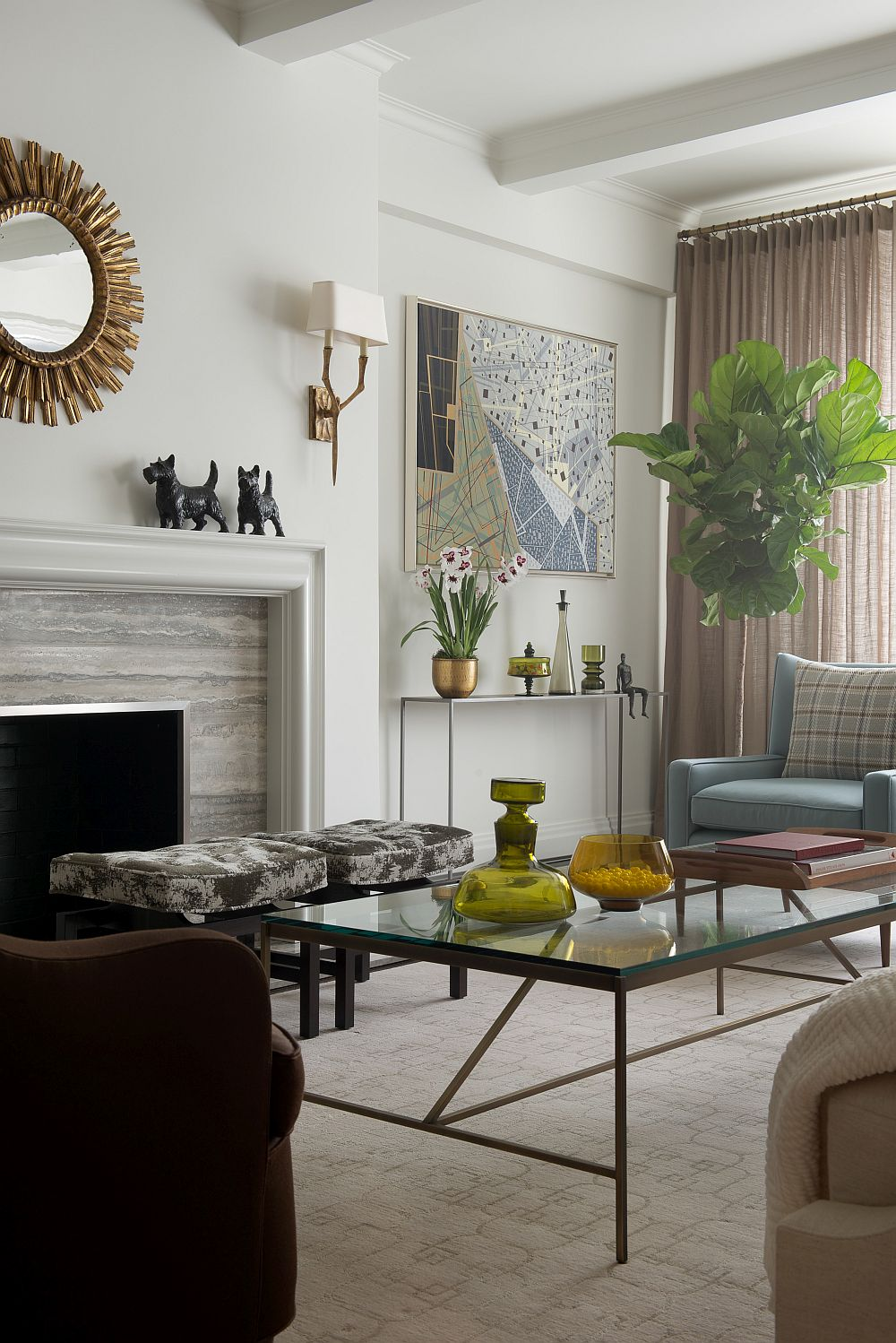 Best Contemporary New York Apartment With Chic Midcentury Vibe This Month
