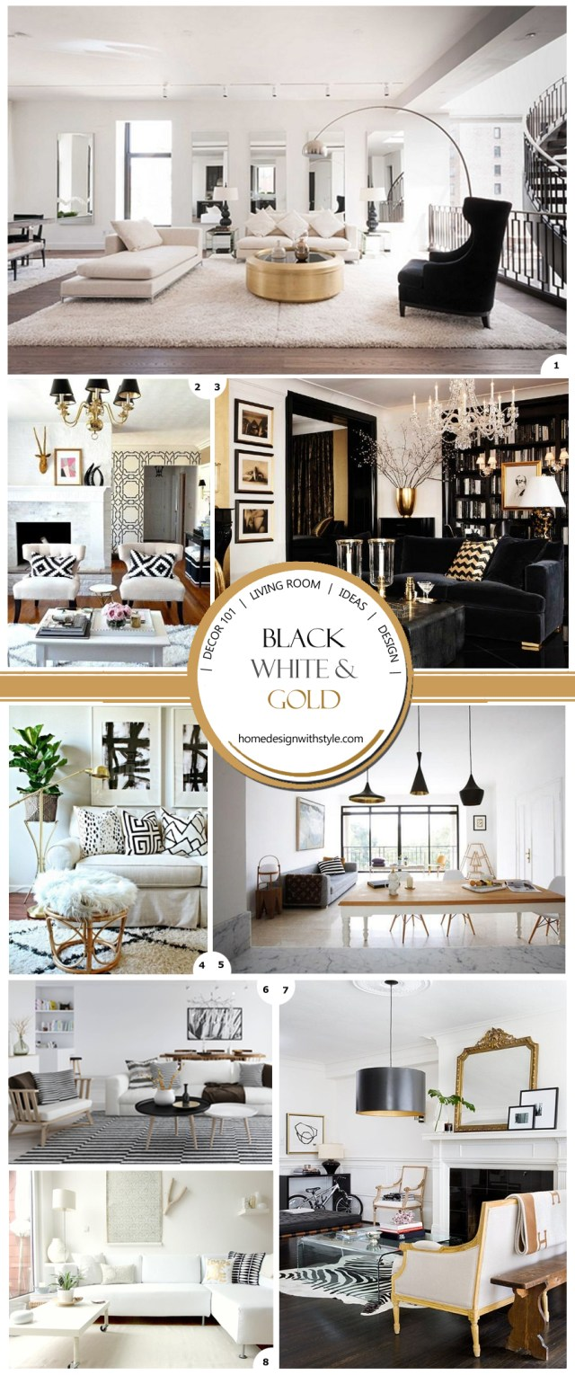Best Decor 101 Black White And Gold Living Room With Tribal This Month