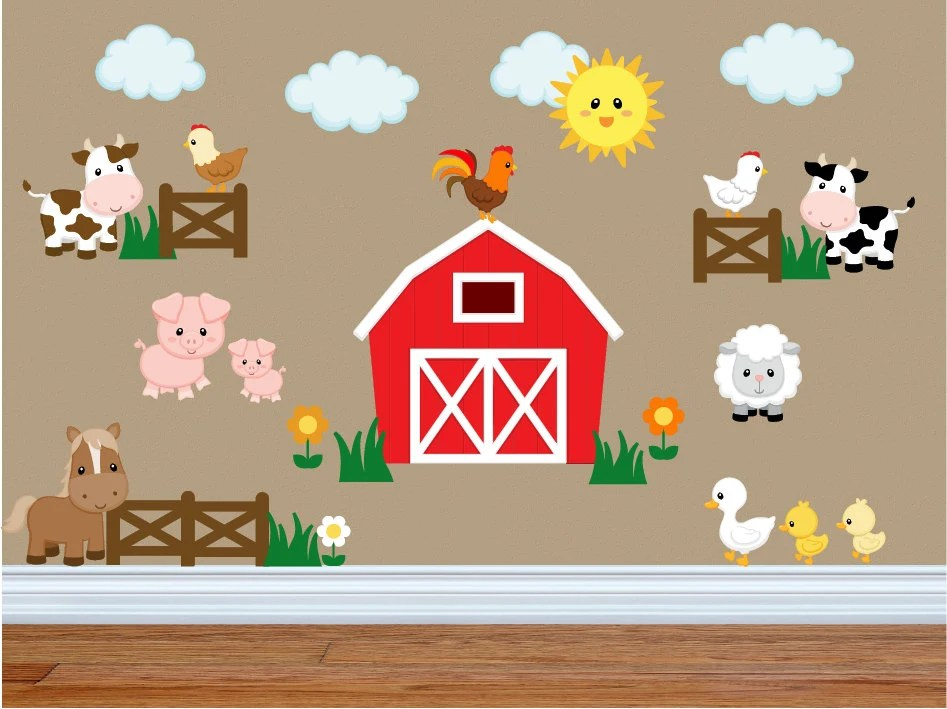 Best Wall Decals For Kids Bedroom Farm Animal Wall Decals Farm This Month