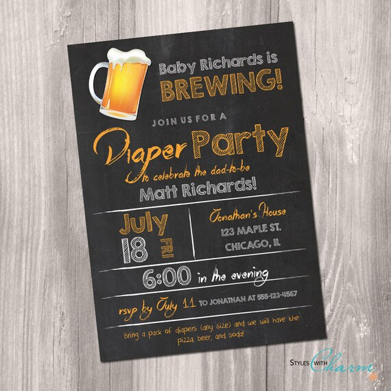Best Diaper Party Invitation Beer And Diaper Party Invitation This Month