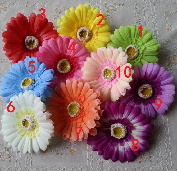 Best Artificial Flower Heads Bulk Flowers Silk Gerbera Daisy 100 This Month