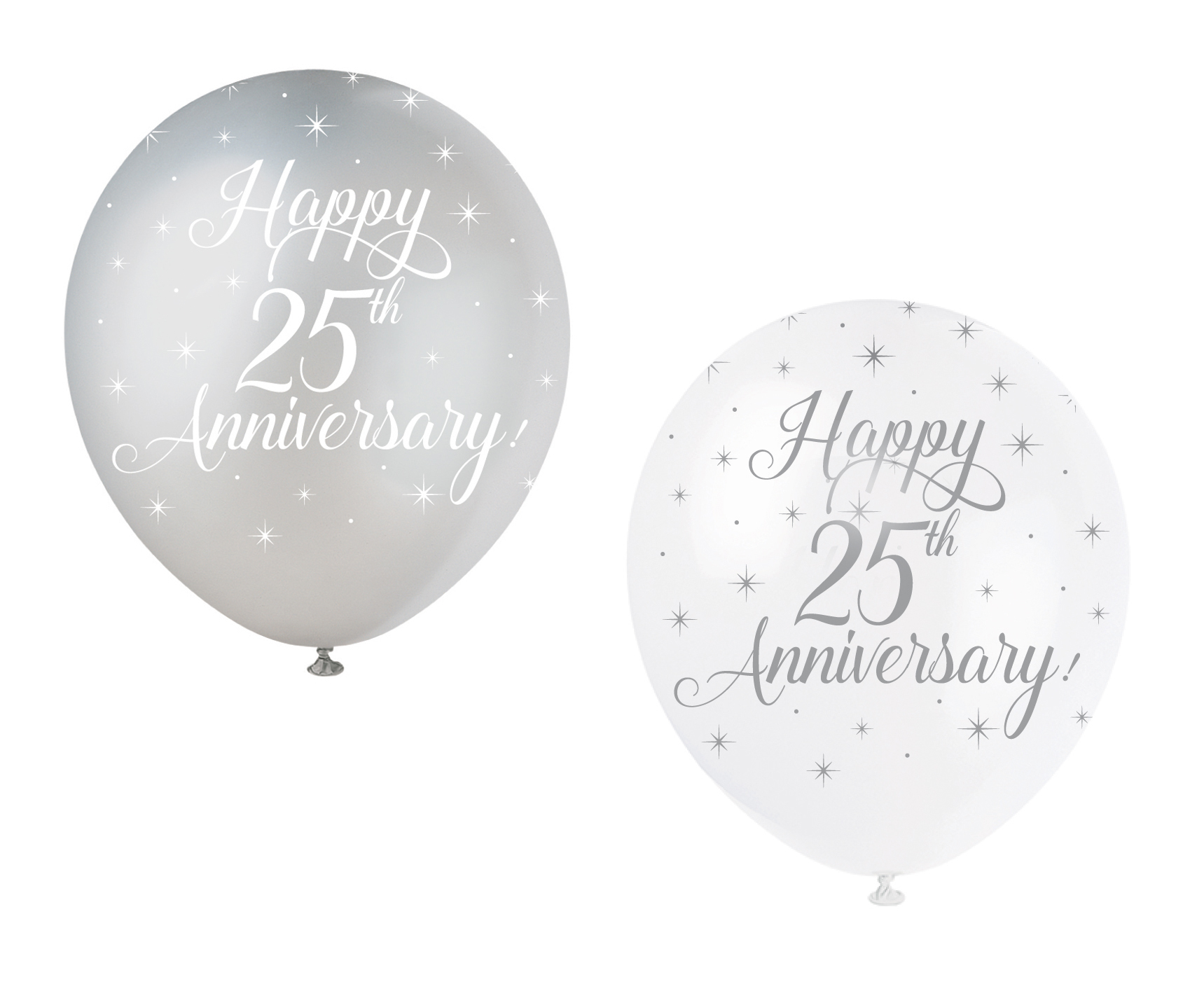 Best 5 Happy 25Th Anniversary Balloons Silver Wedding Party This Month