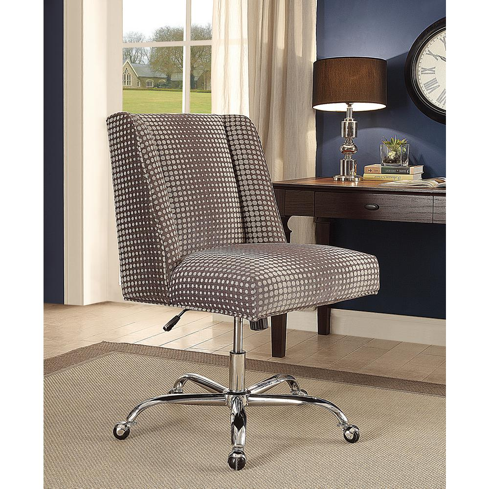 Best Linon Home Decor Draper Office Chair Gray Dot This Month