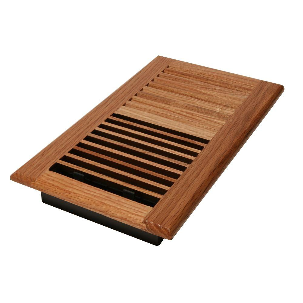 Best Decor Grates 6 In X 14 In Wood Oak Natural Wall Register This Month