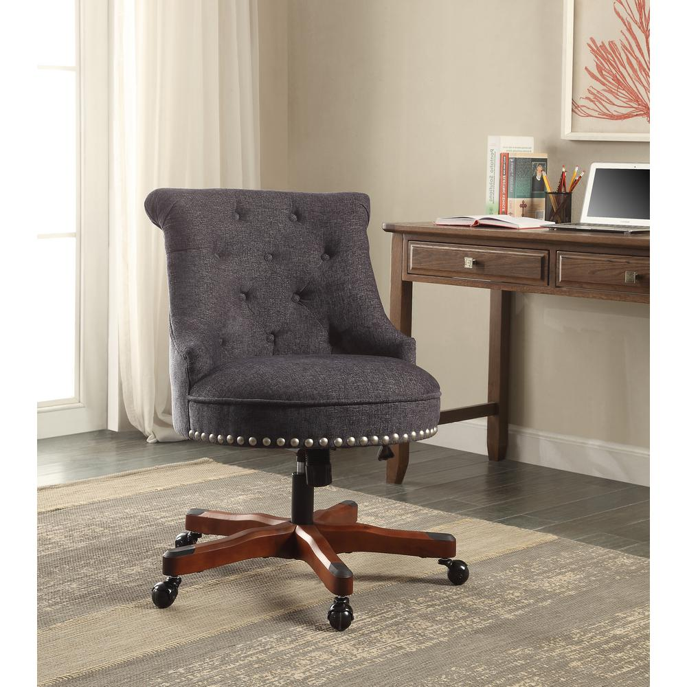 Best Linon Home Decor Sinclair Dark Blue Office Chair With Dark This Month