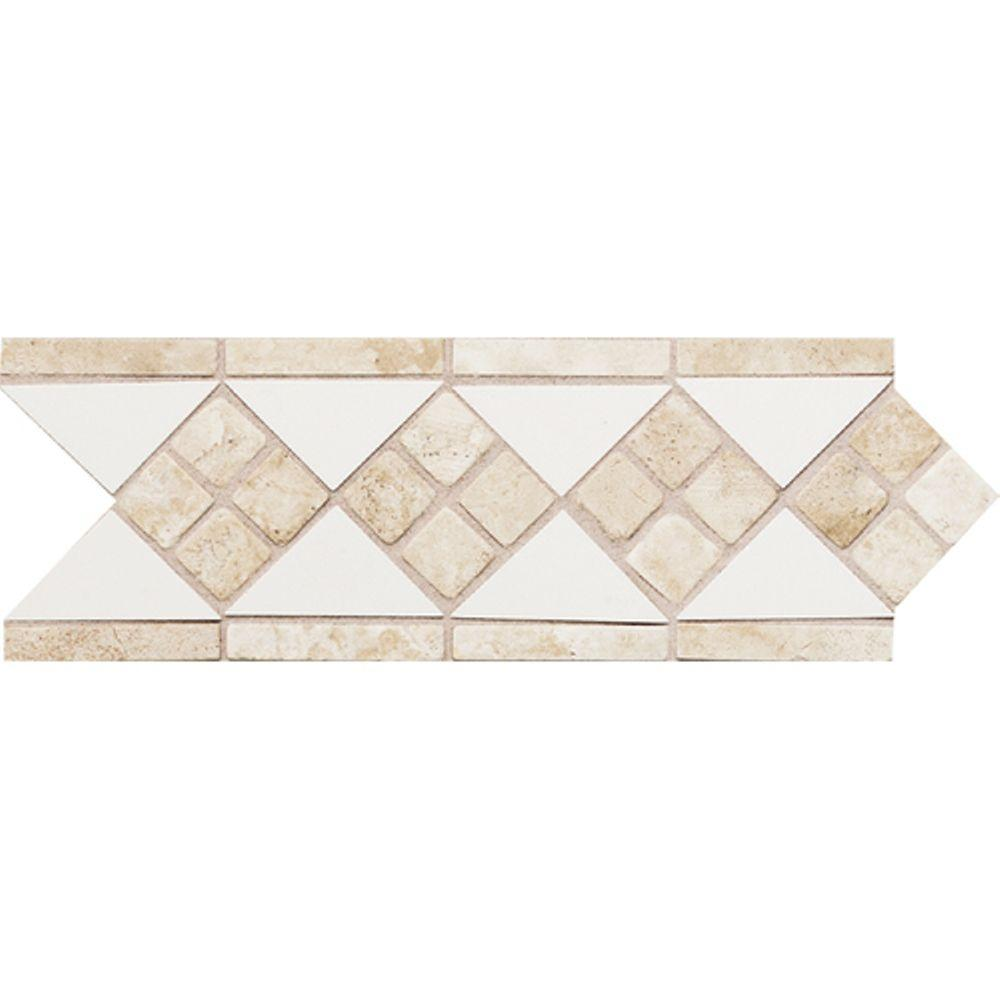Best Daltile Fashion Accents White Travertine 4 In X 12 In This Month