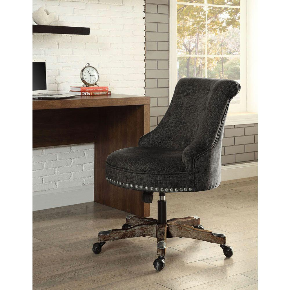 Best Linon Home Decor Sinclair Gray Polyester Office Chair This Month