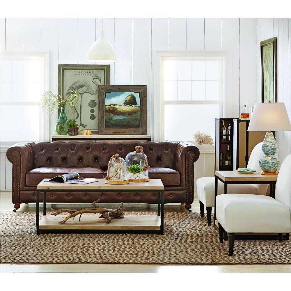 Best Home Decorators Collection Gordon Brown Leather Sofa This Month