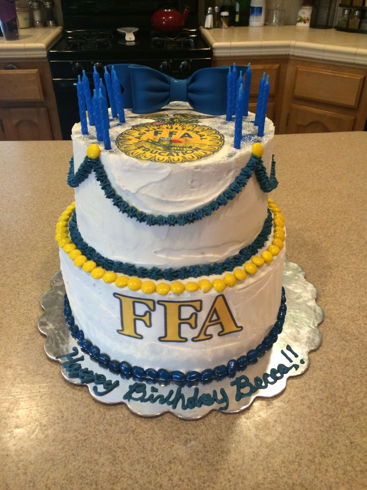 Best Ffa Cake Blue And Yellow Cake Ideas Cake Birthday This Month