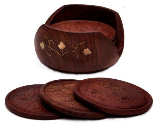 Best Drink Coasters Set A Beautiful Retro Wooden Drink This Month