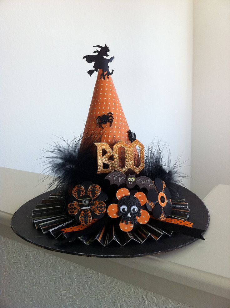 Best This Unique Paper Mache Witch Hat Is Decorated To Be One This Month