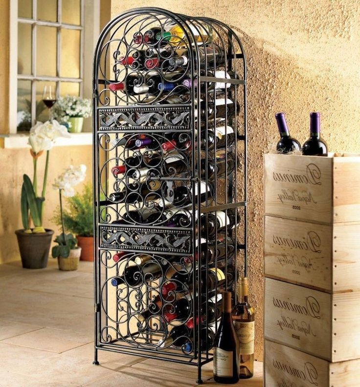 Best 25 Wrought Iron Wine Racks Ideas On Pinterest Iron This Month