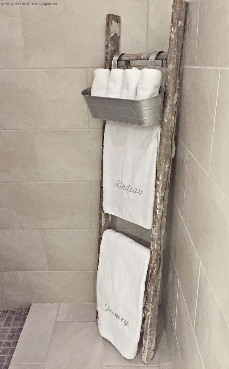 Best Whimsy Girl Design Master Bathroom Old Rustic Ladder This Month