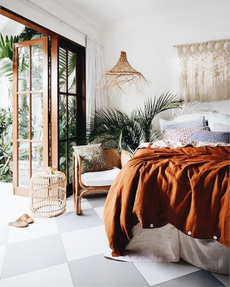Best Earthy Tone Bedroom With A Touch Of Bohemian Style Warm This Month