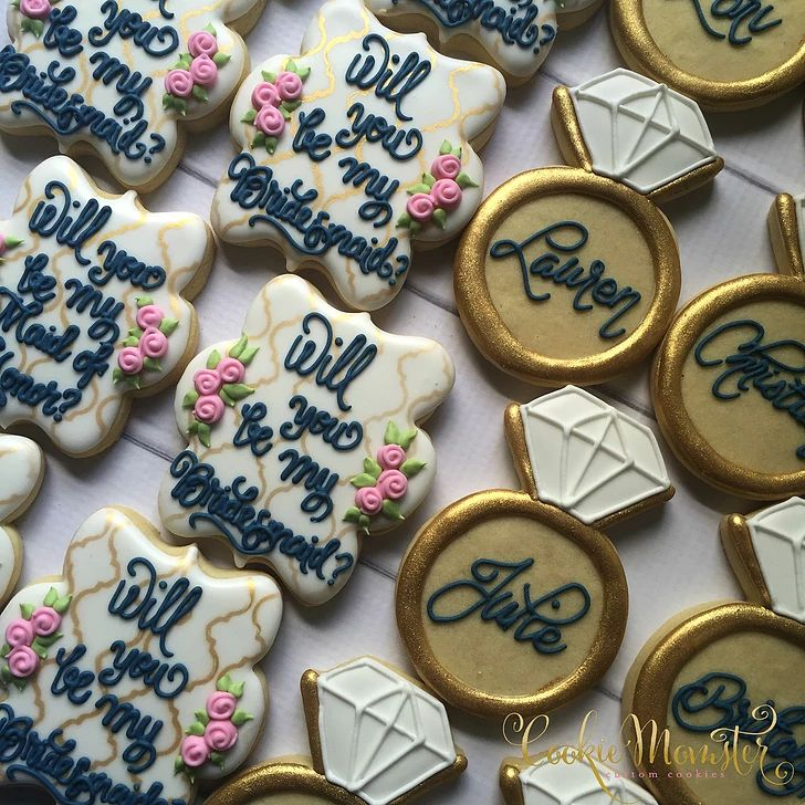 Best 25 Bridesmaid Cookies Ideas On Pinterest This Month