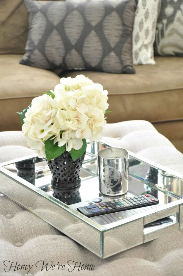 Best 25 Ottoman Tray Ideas On Pinterest Coffee Table This Month