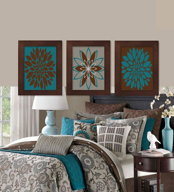 Best 25 Teal Brown Bedrooms Ideas On Pinterest Living This Month