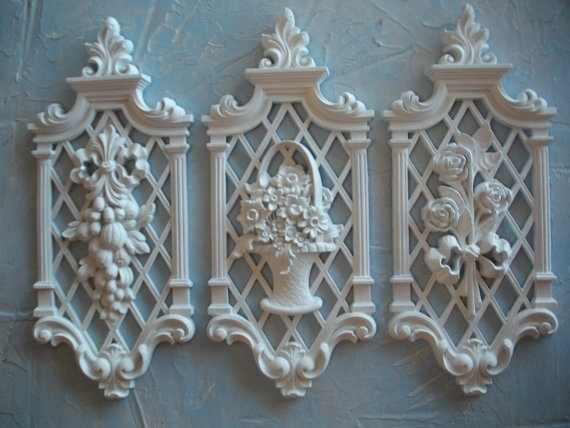 Best Syroco Recycled Shabby Chic White Resin Wall Decor Plaques This Month