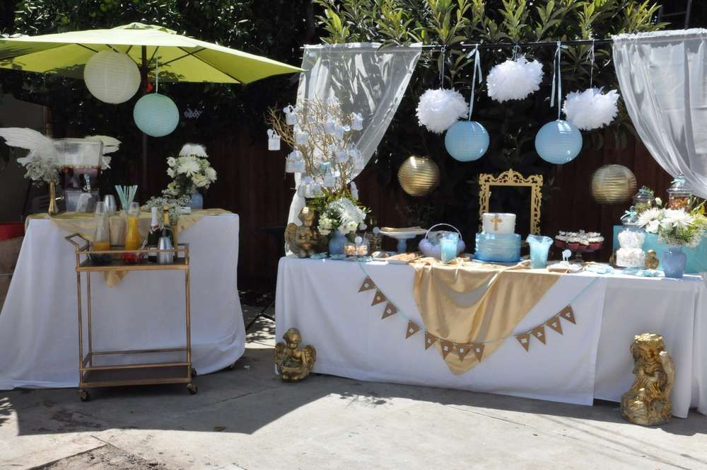 Best Angel Themed Baptism Baptism Party Ideas Creations Boy This Month