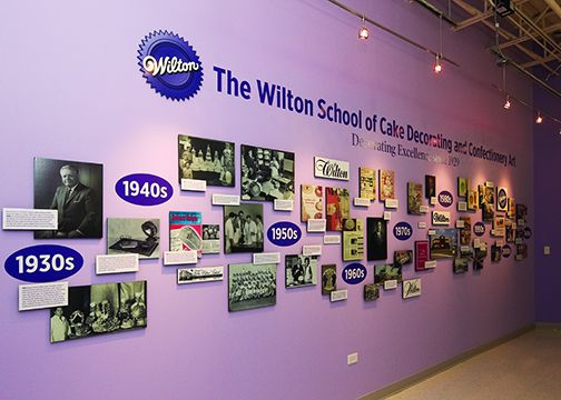 Best History Wall At Wilton School Of Cake Decorating And This Month