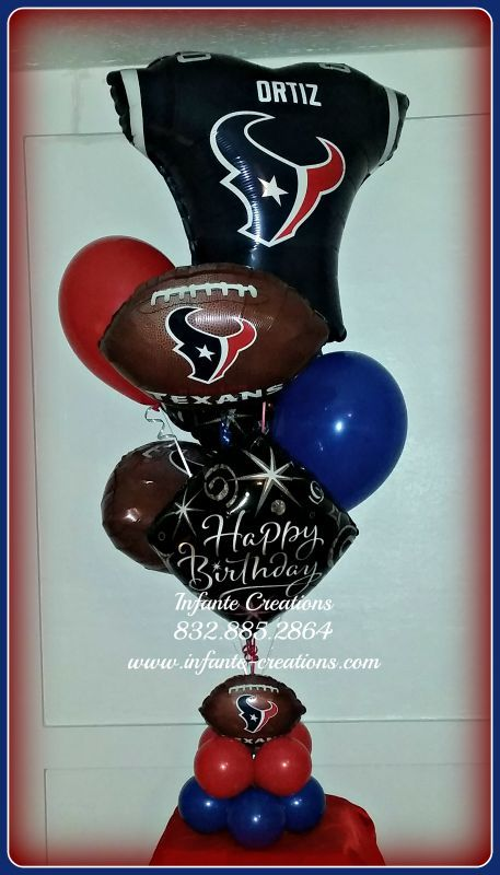 Best Houston Texans Personalized Birthday Balloon Bouquet This Month