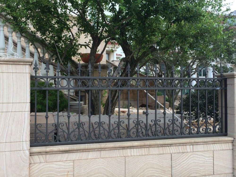 Best Wrought Iron Picket Fences Panels Garden Security Black This Month