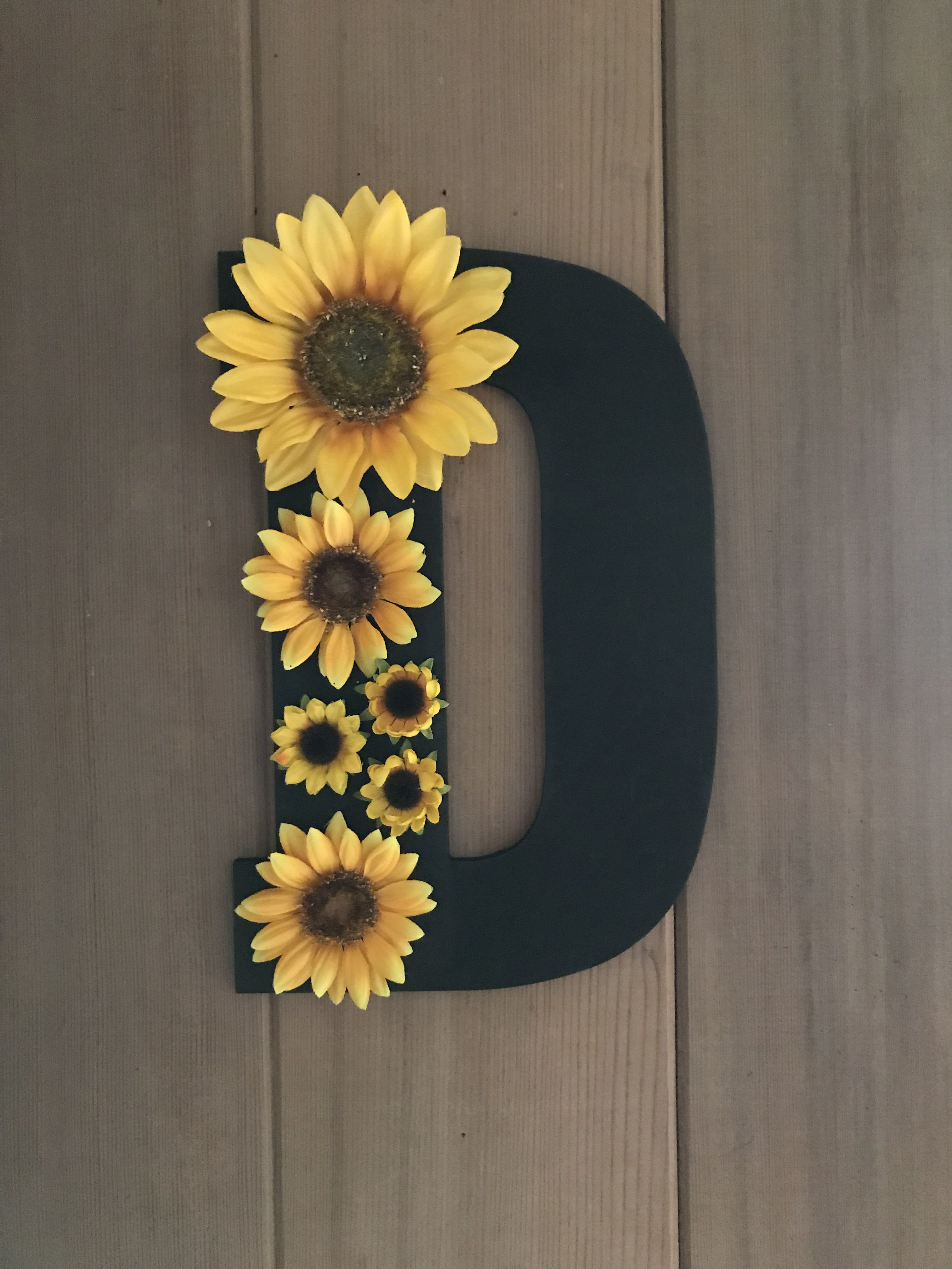 Best Wooden Letter With Sunflowers Babies Sunflower Room This Month