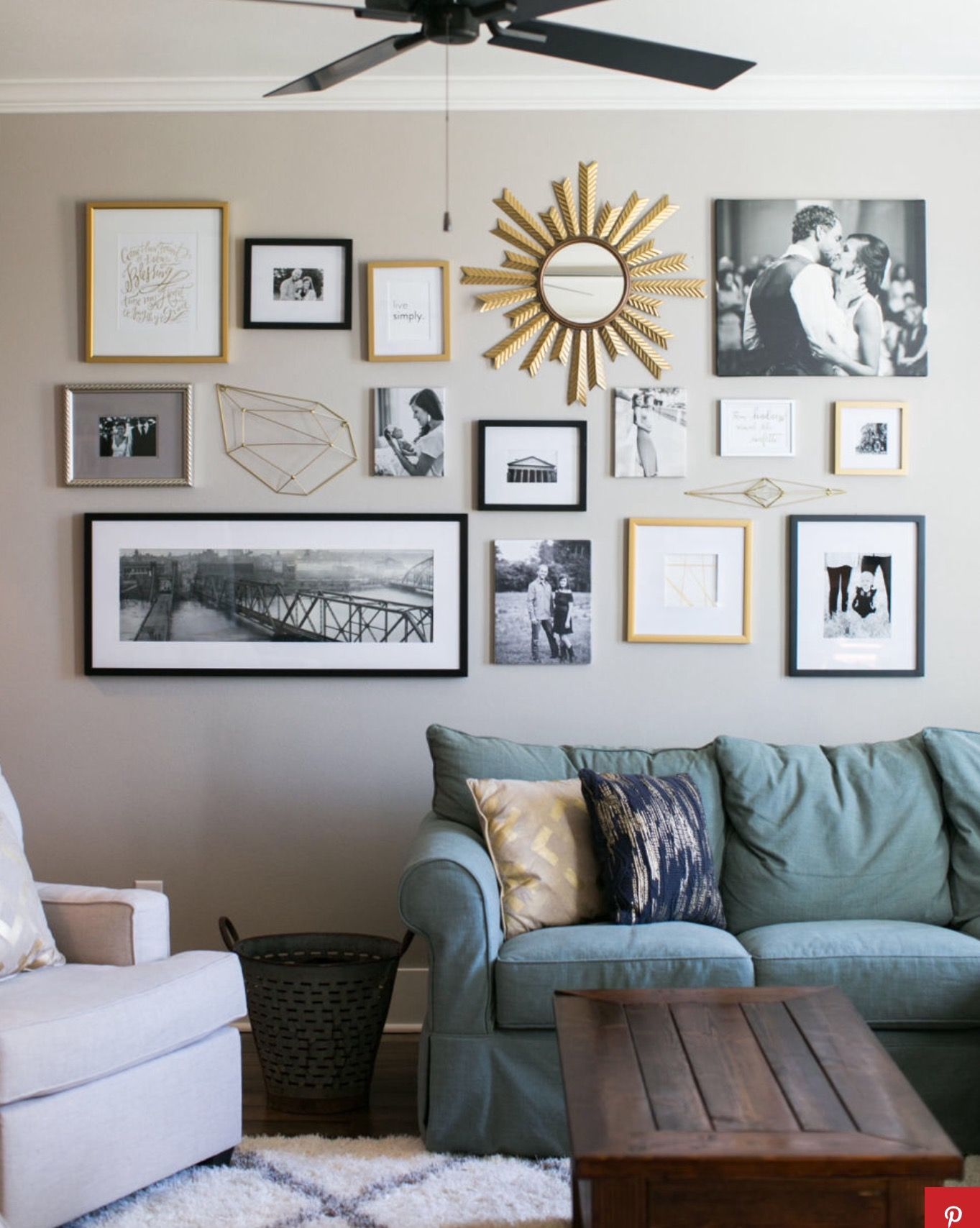 Best Gallery Wall Behind Couch Home Decor Misc Wall This Month