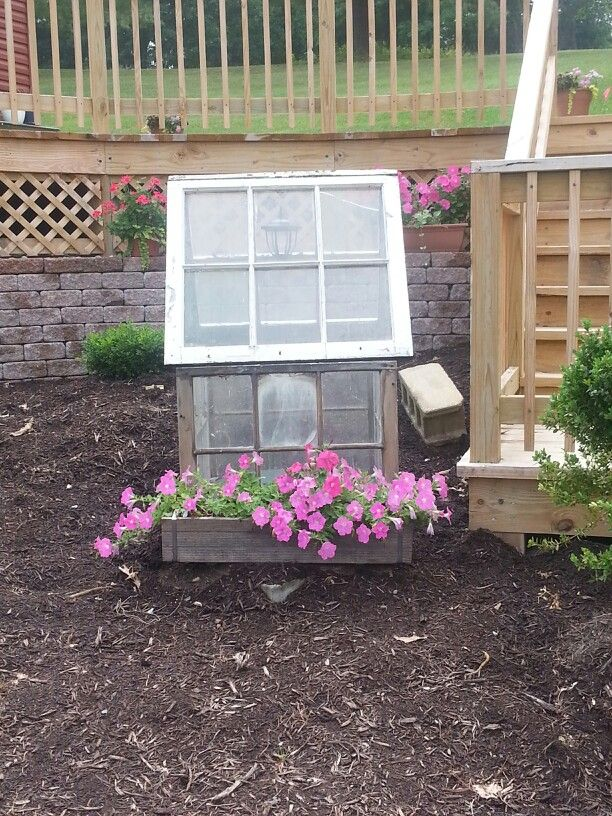 Best Old Windows Into House As A Well Cover Diy Garden This Month