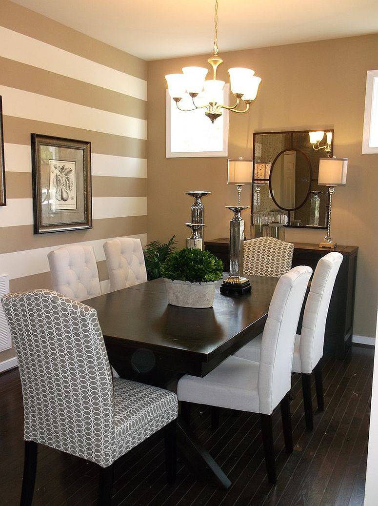 Best Traditional Dining Room With A Striped Accent Wall … For This Month