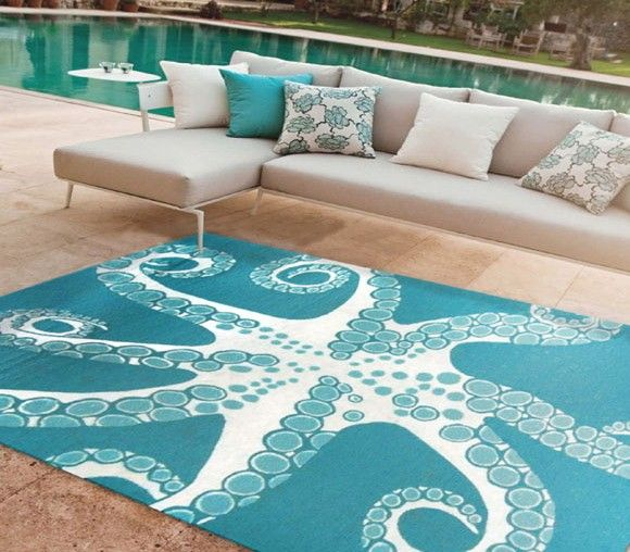 Best Coral Fixation Area Rug Turquoise Beach House Decor This Month