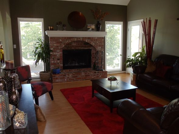 Best Living Room Red Brick Fireplace Decor Formal Living Room This Month