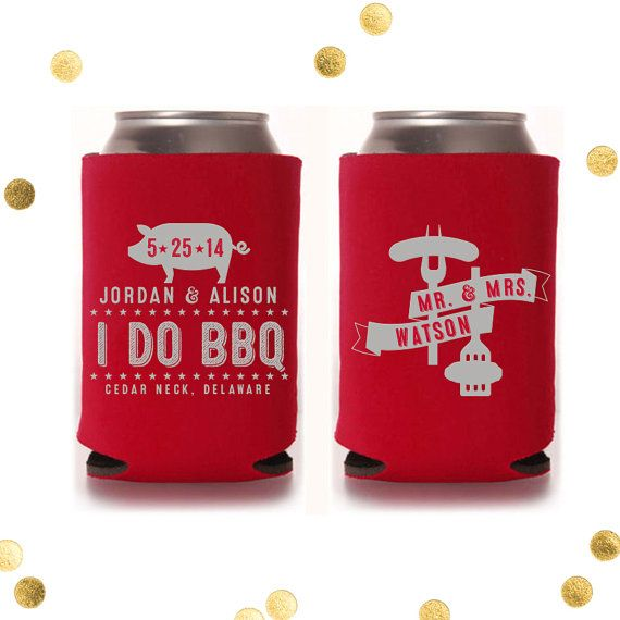 Best I Do Bbq Custom Can Cooler Backyard Barbeque Wedding This Month