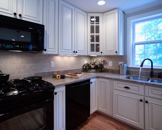 Best White Kitchen With Black Appliances Design Pictures This Month
