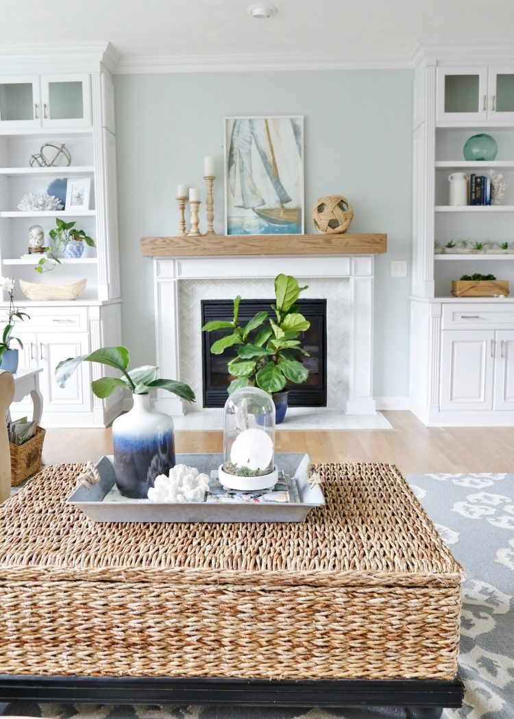 Best Summer Blues Coastal Family Room Tour Coastal Charm This Month