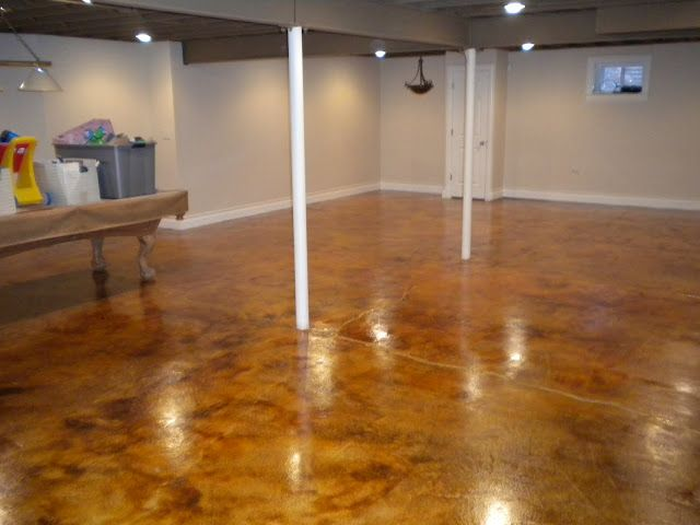 Best Cola Acid Stain Basement Floor All American Decorative This Month