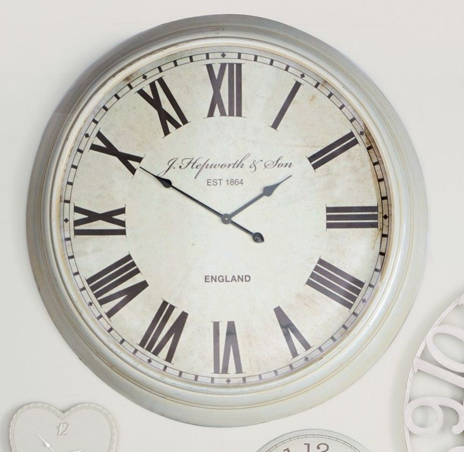 Best Extra Large Cream Wall Clock From Next Wall Art This Month